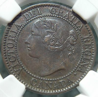 1859 D-P N9 #2 Canada Large 1 Cent Canadian Victoria Coin - NGC EF 45