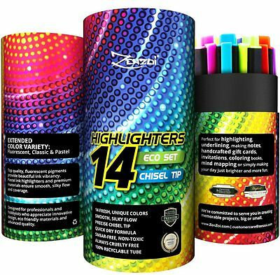 Highlighters Markers Highlighter Set Assorted Colors Pen Set by ZenZoi