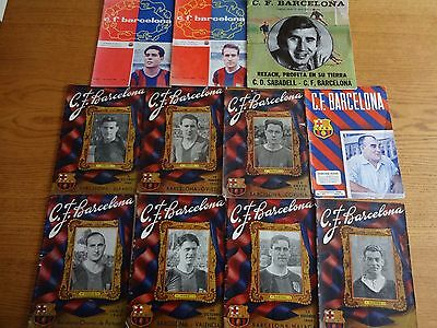 A selection of vintage Fc Barcelona programmes x 11 (Mainly 1949/50)