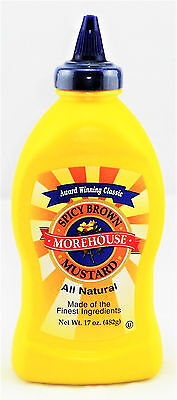 MOREHOUSE 'Spicy Brown' Mustard Senf Made of the Finest Ingredients 482 gr USA