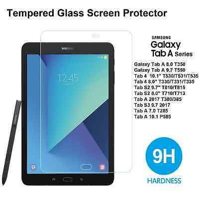 9H Hard Premium Tempered Glass Screen Protector For Samsung Galaxy 4 S2 9.7 10.1