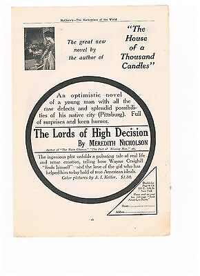 Vintage 1909 Advertisement - Book by Meredith Nicholson - The Lords  (#5)