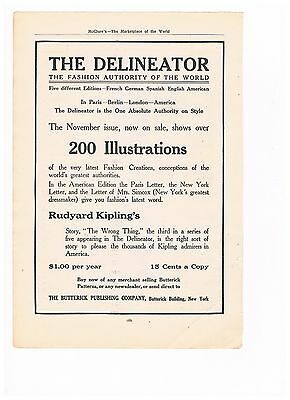 Vintage 1909 Advertisement -  The Delineator Fashion Authority (#10)