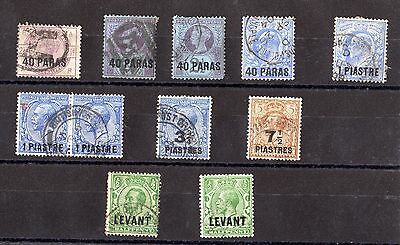 British Levant QV/KGV Collection Of 11 Fine Used X6242