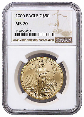 2000 $50 1 Oz American Gold Eagle NGC MS70 SKU17164