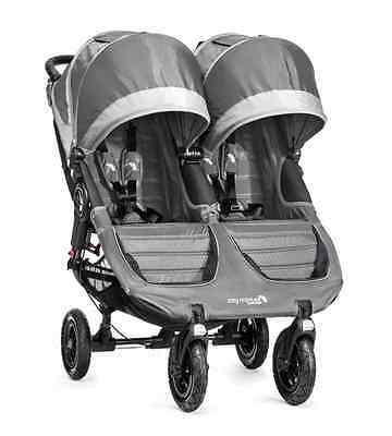 City Mini GT Double Stroller by Baby Jogger Steel Grey NEW 2016