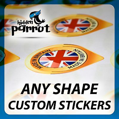 Personalized Cut to any shape Custom Printed Vinyl Stickers Decal Label Car Bike