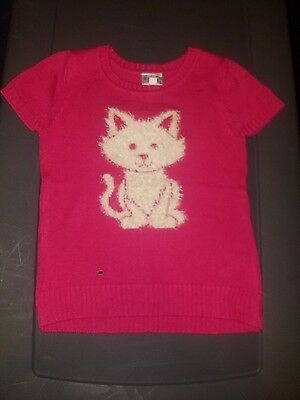 Justice Size 10 pink cat sweater shirt