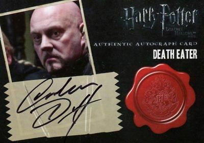 HARRY POTTER DEATHLY HALLOWS 2 Autograph Graham Duff as Death Eater Card 5 Case