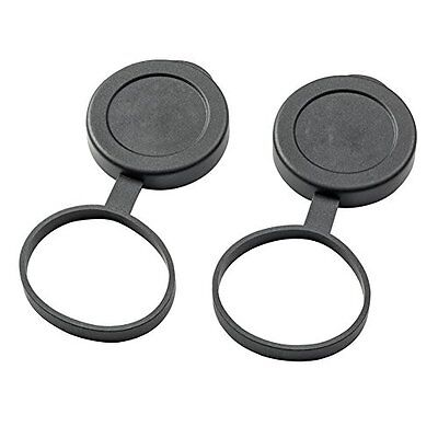 Wingspan Optics Binocular Lens Covers - 42mm Tethered Objective Lens CAP for Po