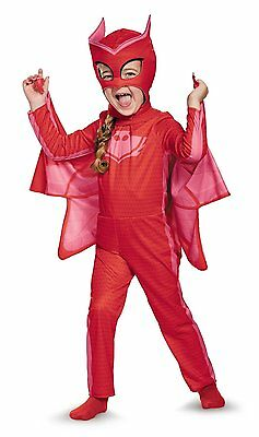 Disguise Owlette Classic Toddler PJ Masks Costume Red 2T(Small)