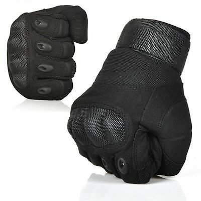 Men's Tactical Gloves Military Army Hunting Shooting Hard Knuckle Black Medium