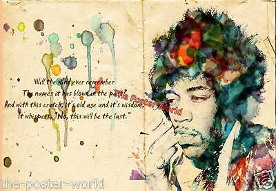 Jimi Hendrix painting Image Picture Poster Home Decor Wall Art Print New