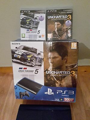 Console Playstation 3+Manette Sony+2 Jeux