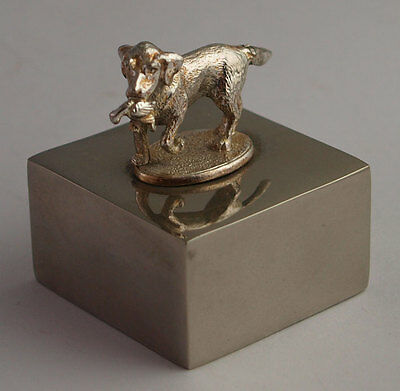 Small White Metal Retriever Dog Paperweight - Hunting/Shooting Interest