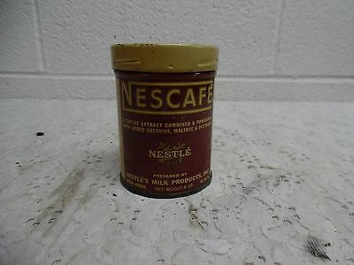 Vintage Nescafe Tin, 4 Oz. Size, Empty