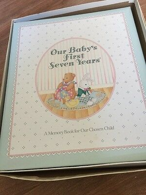 New Our Babys First 7 Years Memory Book For Our Adopted Adoption C.R. Gibson