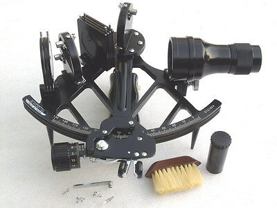 Vgc Glh 130-40 Celestaire Ships Navigation Sextant With Accessories & Papers