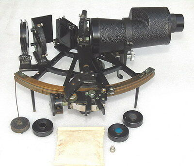 Tamaya Japan Ships Navigation Maritime Sextant With 7X50 Sun Scope & Accessories