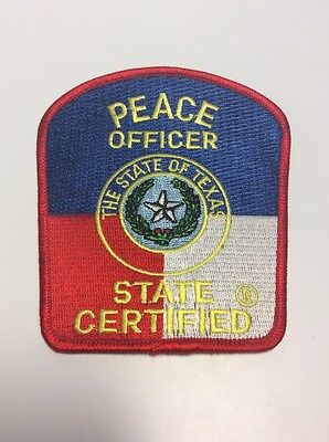 """Texas Peace Officer Patch, State Certified ( 4"""" X 4.25"""" )"""