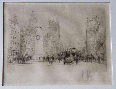 William Walcot – Whitehall with the Cenotaph Original Signed Etching – London