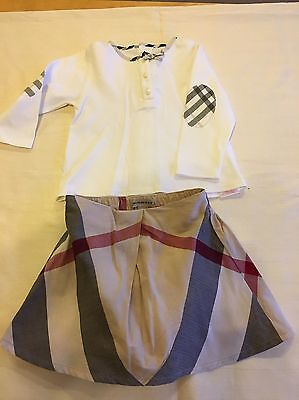 Burberry Baby Girls Outfit Skirt Age 12 Months