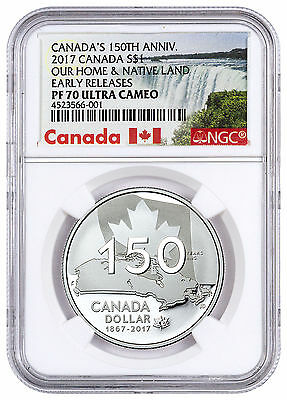 2017 Canada 150th Special Ed Native Land 3/4oz Silver $1 NGC PF70 UC ER SKU45478