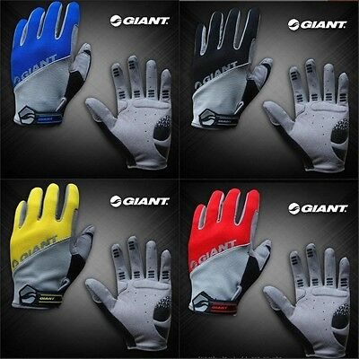 Giant Full Finger Men Cycling Gloves Mountain bike silicone breathable BNWT