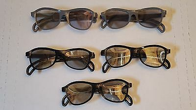 LOT OF 5 VINTAGE hard plastic 3D GLASSES 3 dimension viewers