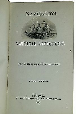 EARLY ANTIQUARIAN NAVIGATION-ASTRONOMY BOOK Free shipping