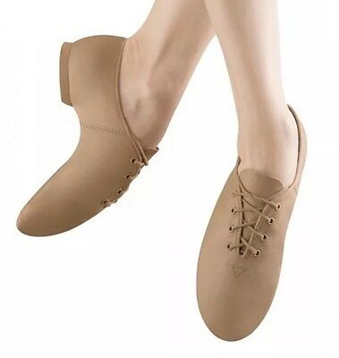 NEW Girls BLOCH Dance Jazz Shoes Split Sole Tan Ultraflex Size 3.5M S0403G