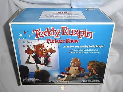 NEW (Opened Box) Teddy Ruxpin Picture Show Vintage 1989 Projector tedy ruxpen