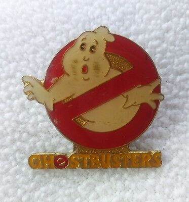 Vintage GHOST BUSTERS Classic 1980s Movie Logo Enamel Pin