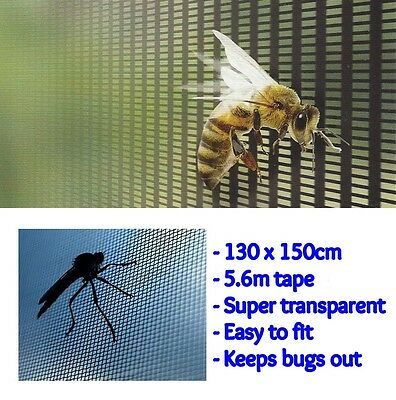 Pest Insect Screen Mesh Window Fly Mosquito Wasp Bug Shield Netting Transparent