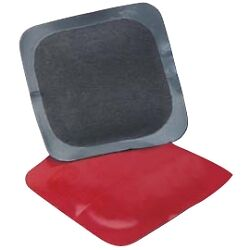 "TMR TI722R Square Universal Red Poly Tire Repair Patch, 2 1/8"", Box of 30"