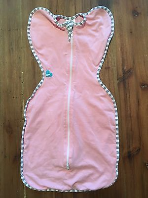 Pink Love to Dream Swaddle Up Sleep Bag Small 6.5-13 lbs, Excellent Condition