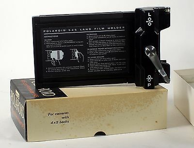 VINTAGE Polaroid 4x5 Land Film Holder # 545 With Original Box and Instructions.