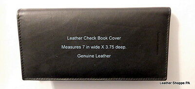 CLOSEOUT SALE !!!  Leather Check Book Cover, Quality at a  Super Price,