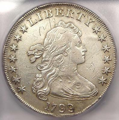 1799 Draped Bust Silver Dollar $1. Certified ICG XF40 Details (EF40) - Rare Coin