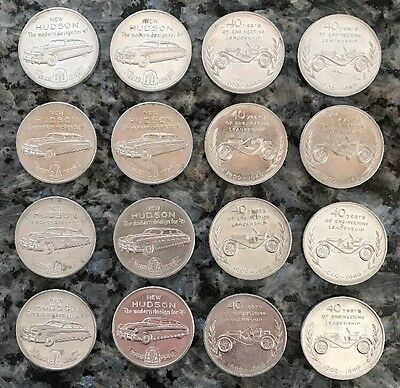 1949 Hudson Motor Car 40th Year Token-Coin Lot Of 16