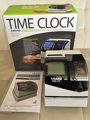 Amano Atomic PIX-75 - Electronic - Time Clock - Recorder, Date & Time Stamp NEW