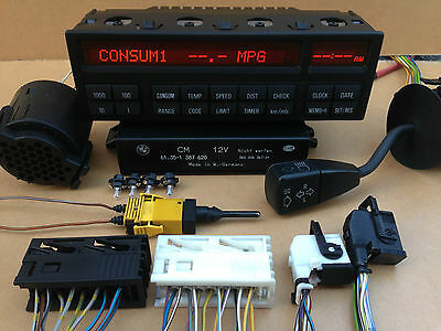 BMW E36 18 Button OBC MID Kit + Check Co Module + Gong + Stalk + Wires + Sensors