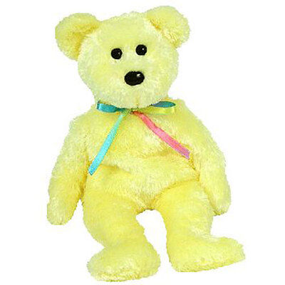 TY Beanie Baby - SHERBET the Bear (Yellow Version) (8.5 inch) - MWMTs Stuffed To