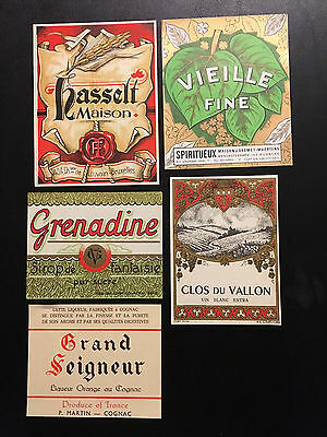Vintage Lot  of 15 European Wine Labels – New Old Stock LOT (C)