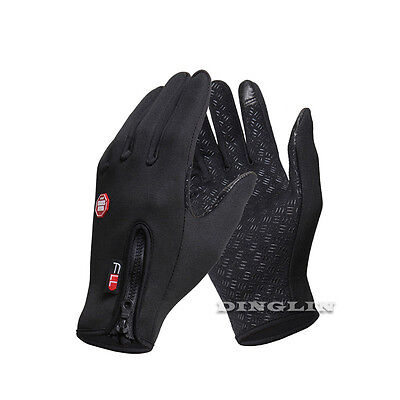 Cycling Gloves Mitts Windproof Full Finger Bike Riding Motorcycle Bicycle Gloves