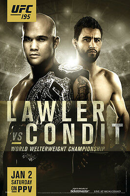 Official UFC 195 Robbie Lawler vs Carlos Condit Sports Poster 12x18 inch