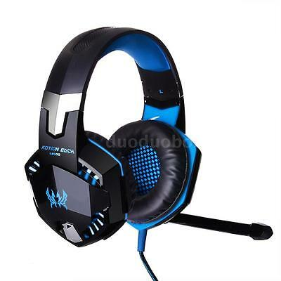 EACH G2000 USB Gaming Headphone Headset Headband with Mic LED For PC Laptop L2B7