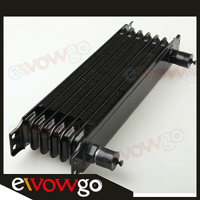 Universal 7 row -10AN Engine transmission Oil Cooler Trust Style Black