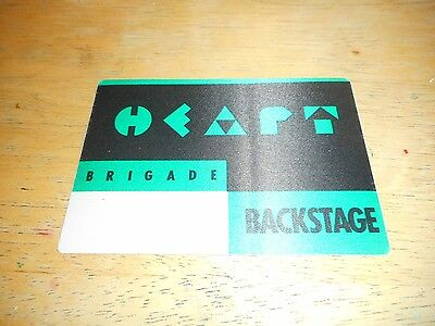 Heart - Official Unused Cloth Pass - Brigade Tour 1990
