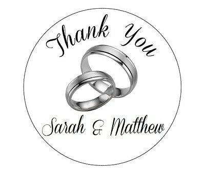 70 Personalised Round Wedding THANK YOU Stickers/Labels 3 FOR 2 Envelopes Seals